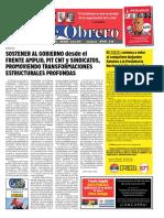 """Convocamos a Defender en Las Calles a Las Instituciones y La Inocencia de Lula"""", Frente Obrero (POR) – Ed de Marzo 17-03-2016"""