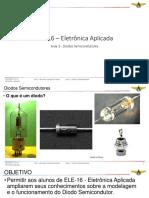 ELE-16 – Aula 3 - AERAESP - Diodos Semicondutores - 24AGO18