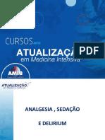 8) Analgesia, Sedacao, Delirium 2018