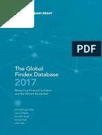 The World Bank Global Findex Database 2017