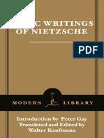 Basic Writings of Nietzsche - Friedrich Wilhelm Nietzsche & Walter Arnold Kaufmann