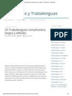 25 Trabalenguas Complicados, Largos y Difíciles - Adivinanzas y Trabalenguas