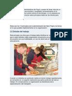 Los 14 Principios Administrativos de Fayol LIC. RITA MATEOS