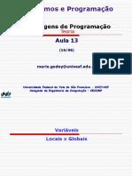 Algoritmos e Programacao - TEORIA - Aula 13