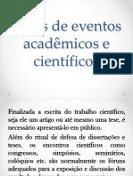 Tipos de Eventos Acadêmicos e Científicos