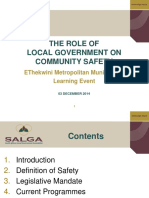 7. Role of Local Government on Community Safety - 03 Dec 2014