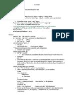 C review sheet