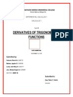 Somosot, Derivatives of Trigonometric Functions