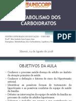 aula de metabolismo de carboidratos