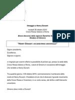 Hommage Henri Dunant (en italien)