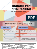 Techniques for Testing Reading
