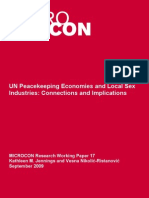 UN Peacekeeping Economies and Local Sex Industries Connections and Implications