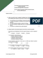 Examen diagnostico transmisión de datos