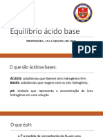 AULA 02 EQUILÍBRIO ÁCIDO BASE