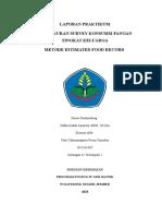 Laporan Praktikum Survey Konsumsi Pangan Metode Food Record