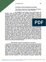 Inflammatory Bowel Disease Nutritional Implications and Treatment