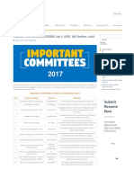 important commissions and committees 2017
