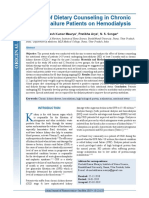 Effect of Dietary Counseling in Chronic Renal Failure Patients on Hemodialysis
