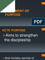 Acts Purpose