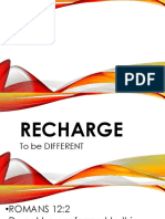 Recharge to Be Different