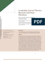 Leadership CurrentTheories,Research,FutureDir