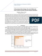 The Influence of Investment Knowledge, Perceived Risk and Perceived Behavioral Control towards tock Investment Intention