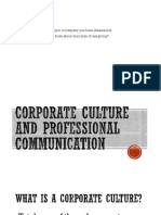 Corporate Culture and Professional COMMUNICATION