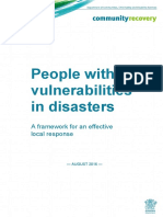 Supporting People With Vulnerabilities Framework