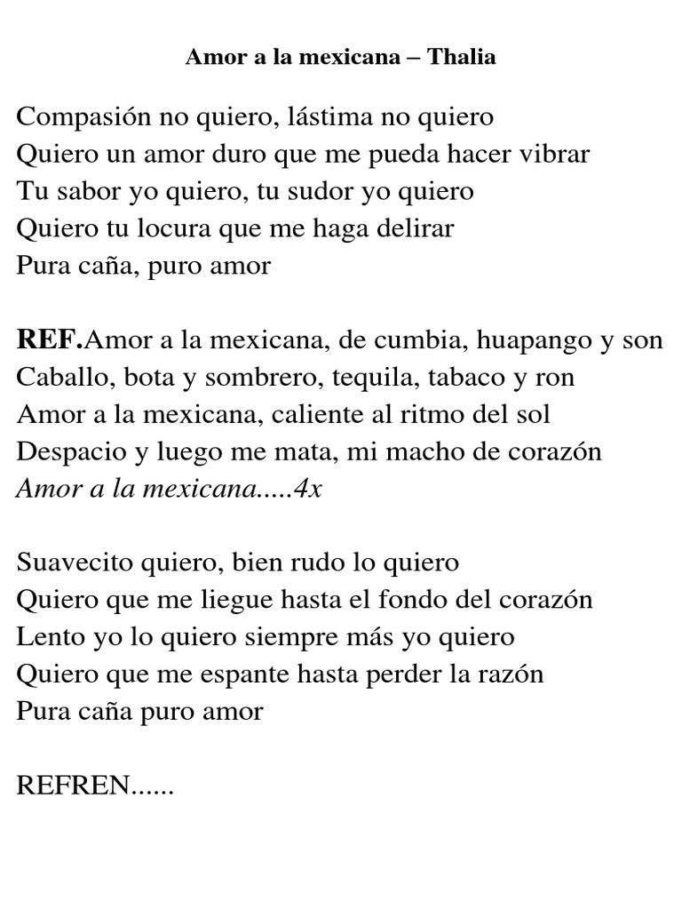 Amor a la Mexicana Tracklist