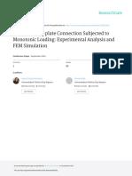 ExtendedEnd-plateConnectionSubjectedtoMonotonicLoadingExperimentalAnalysisandFEMSimulation.pdf