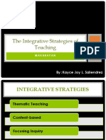 B the Integrative Strategies of Teaching MAKABAYAN