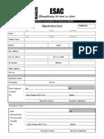 ESAC Registration Form