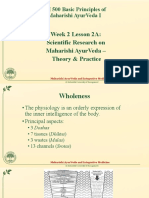 Scientific Research on Maharishi AyurVeda - Theory and Practice Slides