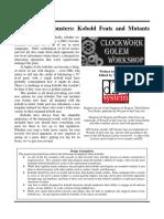 Clockwork Golem - Masterwork Monsters - Kobold Feats and Mutants (d20)