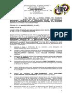 La Verdadera Acta de Decima Quinta (15a) Asamblea Nacional de Delegados. 15 de Febrero 2019