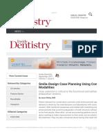 Smile Design Case Planning Using Conservative Treatment Modalities Inside Dent