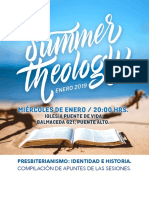 Presbiterianismo, identidad e historia. Summer Theology 2019..pdf