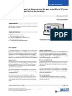 Measuring System for Laboratory Analysis of Decomposition Products in SF6 Gas Model GFTIR-10