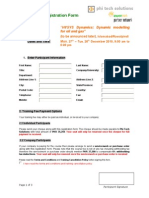 Course Registration Form 2010 2 HYSYS Dynamics