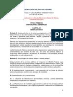 Ley Movilidad Distrito Federal 02-04-2018