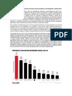 inversión de las empresas en investigación y desarrollo