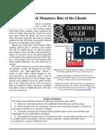 Clockwork Golem - Masterwork Monsters - Rise of the Ghouls (d20)