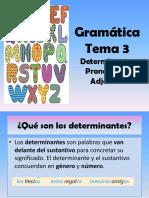 Adjetivos, Pronombres y Artìculos