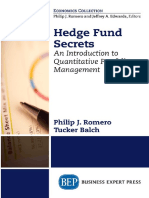 Philip J. Romero_ Tucker Balch - Hedge Fund Secrets_ an Introduction to Quantitative Portfolio Management-Business Expert Press (2018)