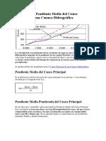 Cálculo de La Pendiente Media Del Cauce Principal de Una Cuenca Hidrográfica