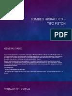 Bombeo Hidraulico – Tipo Piston