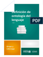 Ontologia del lenguaje