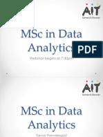 MSc in DA Online - Webinar Presentation