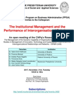 2.Banner - Institutuional Mngt and the Performance of Interorganisational Relations