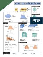 Formulaire Geometrie